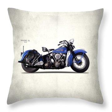 Harley-davidson El 1948 Throw Pillow by Mark Rogan