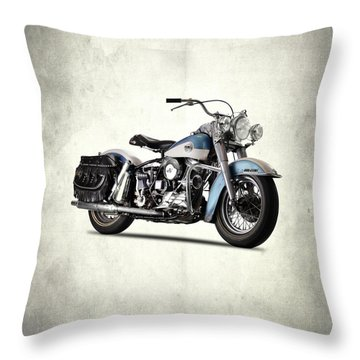 The 58 Harley Flh Throw Pillow