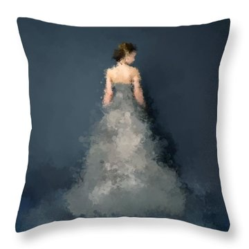Throw Pillow featuring the digital art Anna by Nancy Levan