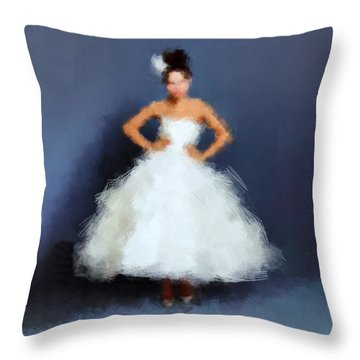 Throw Pillow featuring the digital art Becky by Nancy Levan