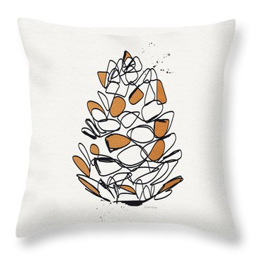 Pine Cone- Art By Linda Woods Throw Pillow