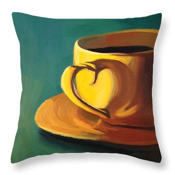 Yellow Java Throw Pillow by Nathan Rhoads