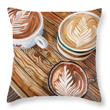 Mocha Trinity Throw Pillow