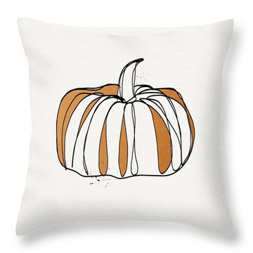 Contemporary Pumpkin- Art By Linda Woods Throw Pillow