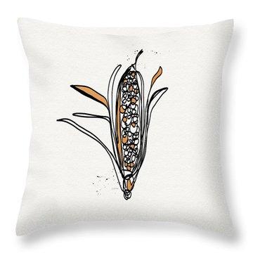 corn- contemporary art by Linda Woods Throw Pillow