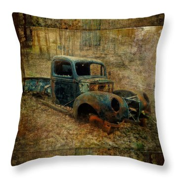 Resurrection Vintage Truck Throw Pillow