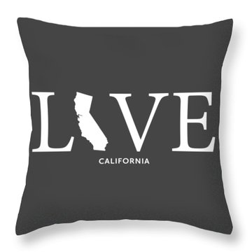 Throw Pillow featuring the mixed media Ca Love by Nancy Ingersoll