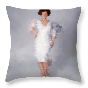 Throw Pillow featuring the digital art Tiffany by Nancy Levan