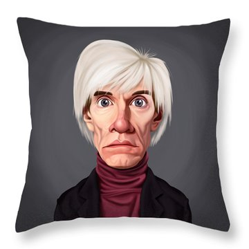 Celebrity Sunday - Andy Warhol Throw Pillow