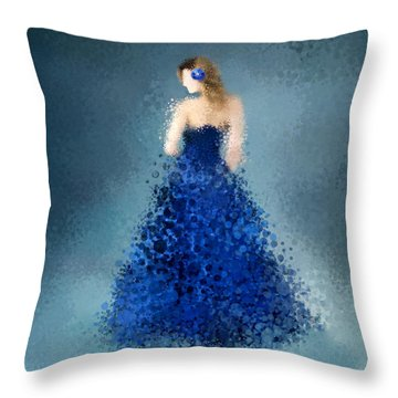 Throw Pillow featuring the digital art Angelica by Nancy Levan
