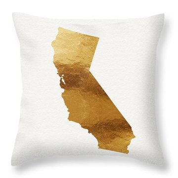 California Gold- Art By Linda Woods Throw Pillow by Linda Woods