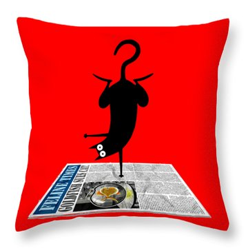 Yoga Mat Throw Pillow