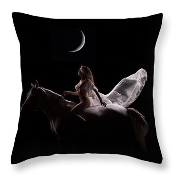 Throw Pillow featuring the photograph Midnight Sojourn by Dario Infini