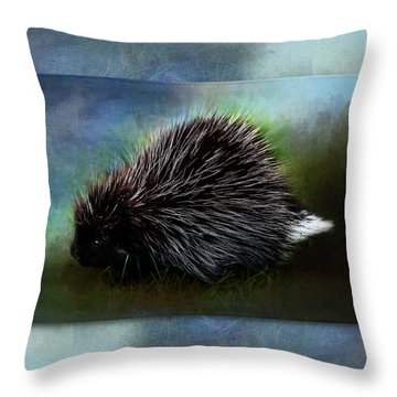 Porcupine Throw Pillow
