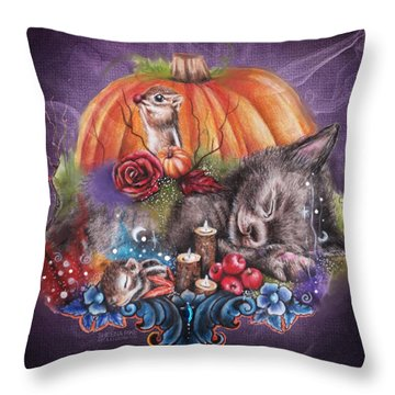 Dreaming Of Autumn Throw Pillow by Sheena Pike