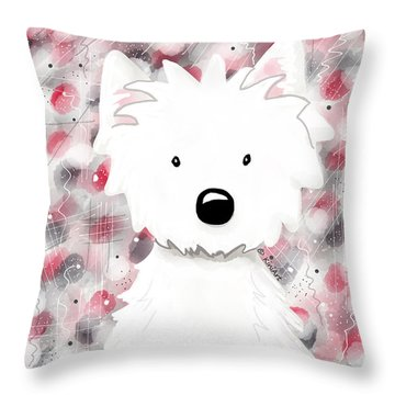 Westie Impressions II Throw Pillow