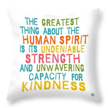 The Human Spirit Throw Pillow