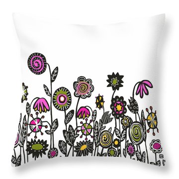 Hippie Garden Throw Pillow