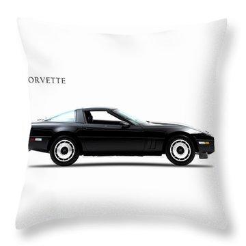 Chevrolet Corvette 1985 Throw Pillow