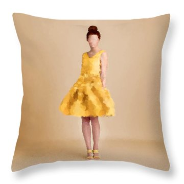 Throw Pillow featuring the digital art Emma by Nancy Levan