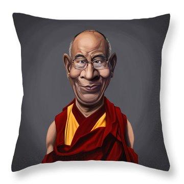 Celebrity Sunday - Dalai Lama Throw Pillow