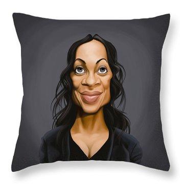 Celebrity Sunday - Rosario Dawson Throw Pillow