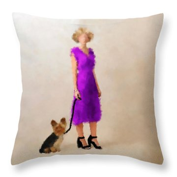 Throw Pillow featuring the digital art Christina by Nancy Levan