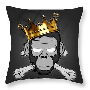 The Voodoo King Throw Pillow by Nicklas Gustafsson