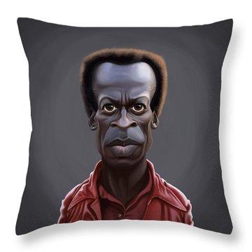 Celebrity Sunday - Miles Davies Throw Pillow