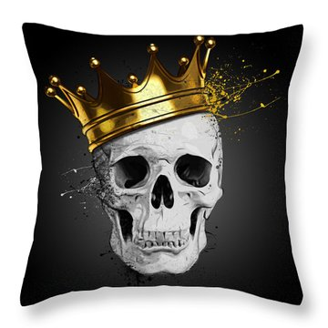 Royal Skull Throw Pillow by Nicklas Gustafsson