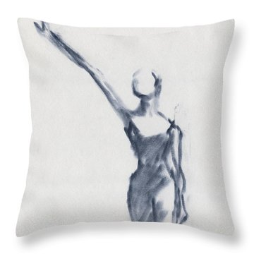 Ballet Sketch One Arm Extended Throw Pillow by Beverly Brown