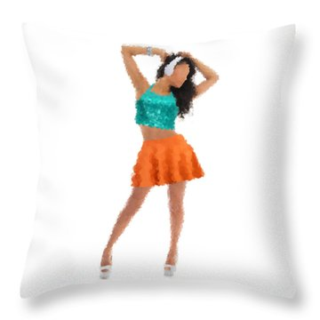 Throw Pillow featuring the digital art Gaby by Nancy Levan