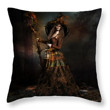 The Wood Witch Throw Pillow