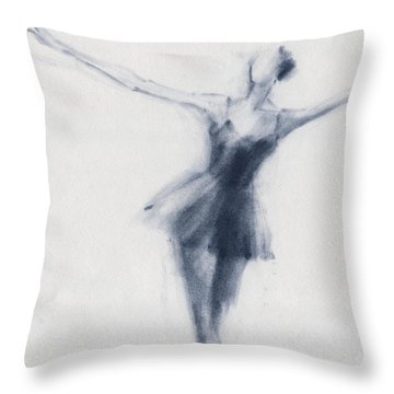 Ballet Sketch Dying Swan Throw Pillow