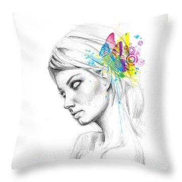Butterfly Queen Throw Pillow