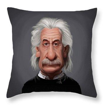 Celebrity Sunday - Albert Einstein Throw Pillow