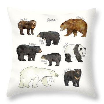 Bears Throw Pillow