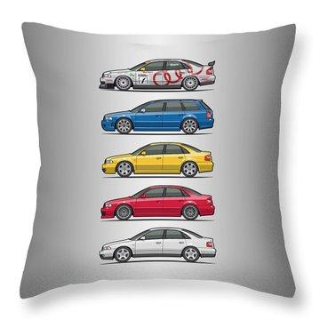 Stack Of Audi A4 B5 Type 8d Throw Pillow