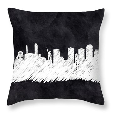 Throw Pillow featuring the mixed media The Skyline - Birmingham - Alabama by Mark Tisdale