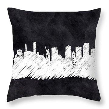 The Skyline - Birmingham - Alabama Throw Pillow