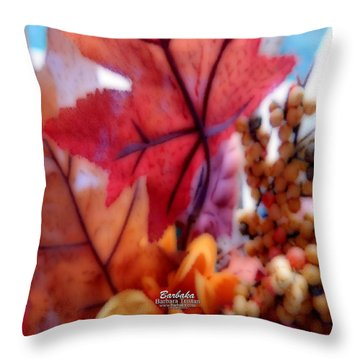 Fall Colors # 6059 Throw Pillow by Barbara Tristan