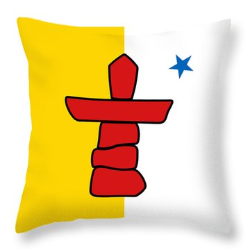 Flag Of Nunavut High Quality Authentic Hd Version Throw Pillow