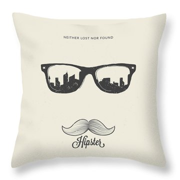 Hipster Neither Lost Nor Found Throw Pillow by BONB Creative