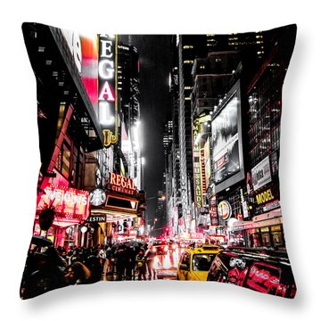 New York City Night II Throw Pillow