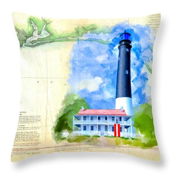 Historic Florida Panhandle - Pensacola Throw Pillow by Mark Tisdale