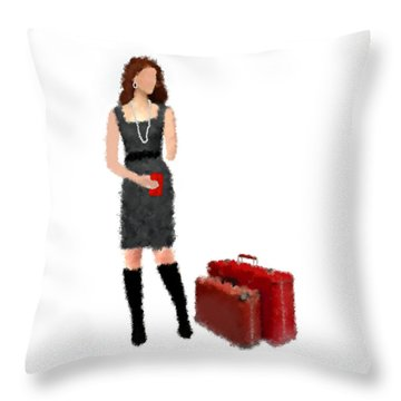 Throw Pillow featuring the digital art Melanie by Nancy Levan
