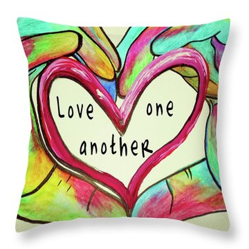 Love One Another John 13 34 Throw Pillow