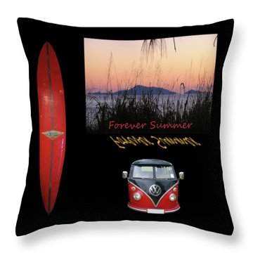 Forever Summer 1 Throw Pillow by Linda Lees
