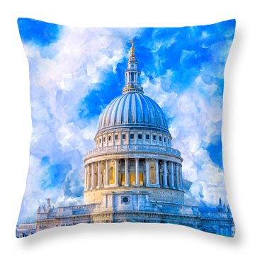 The Great Dome - St Paul's Cathedral Throw Pillow