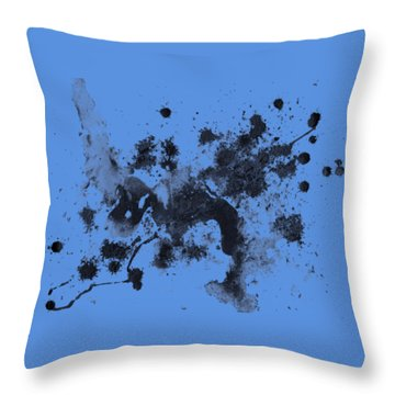 Throw Pillow featuring the painting Splartch by Marc Philippe Joly